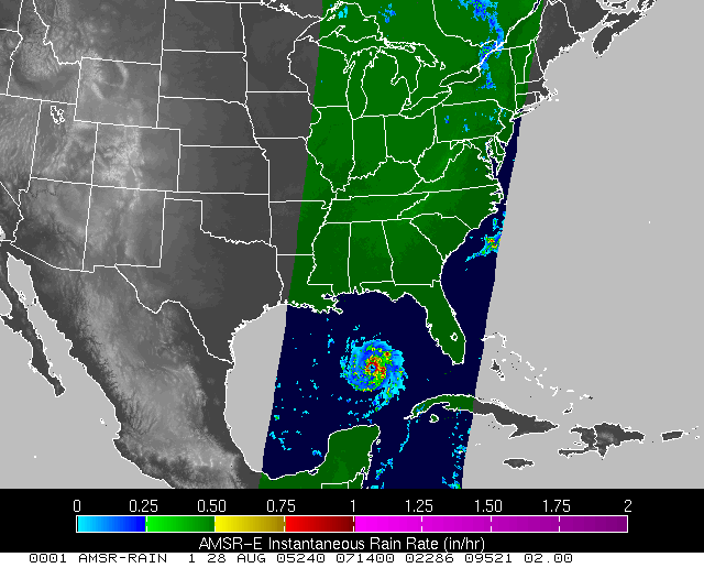 NASA satellite hurricane data