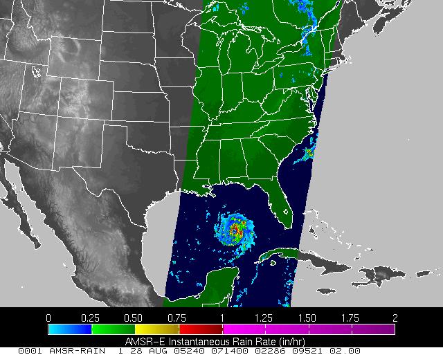 NASA satellite hurricane data