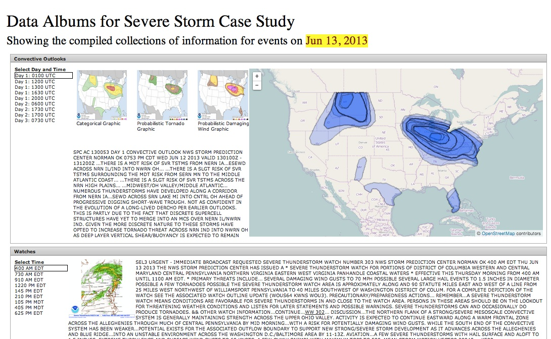 Severe Storm data aggregation