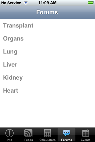 Forums allow for networking between transplant care providers