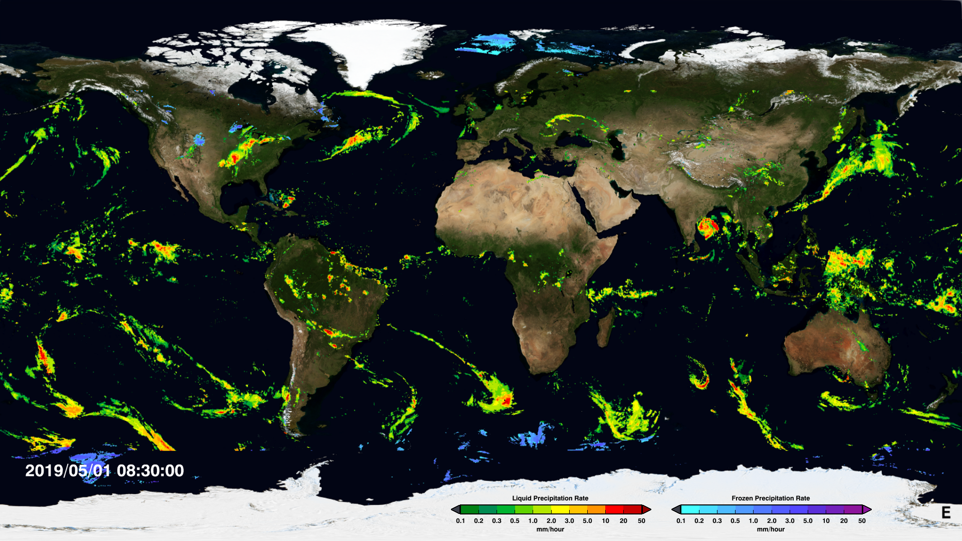 Image of IMERG precipitation data