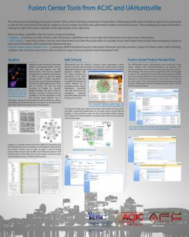 Fusion Center Tools conference poster