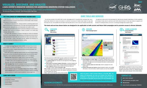 Visualize, Discover, and Analyze: A Data Center's Innovative Services for Addressing Observing System Challenges (AMS 2017)