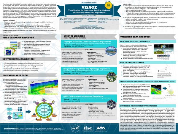 VISAGE: Visualization for Integrated Satellite, Airborne and Ground-based data Exploration (AGU Fall Meeting 2017)