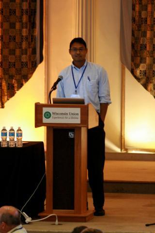 Rahul Ramachandran presenting at a recent ESIP Federation meeting