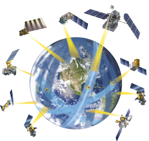 GPM satelllite constellation logo