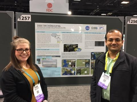 Leigh Sinclair and Ajinkya Kulkarni at the 2018 AGU Fall Meeting