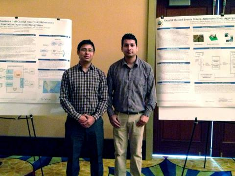 Sabin Basyal and Prabhash Jha presenting work at NG CHC meeting in Mobile.