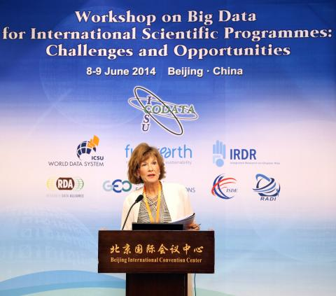 CODATA Secretary General, Professor Sara Graves, chairing the Opening Ceremony