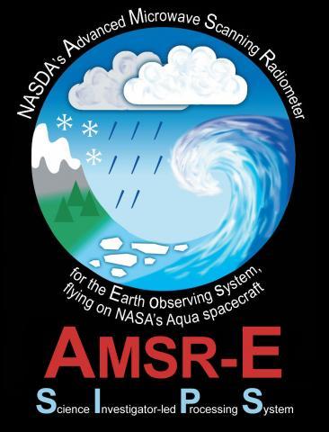 AMSR-E SIPS logo