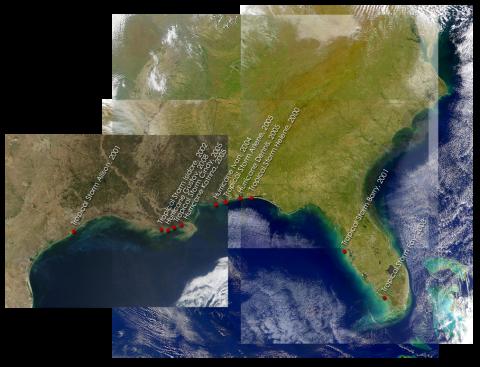 SANDS Collage: Storm landfalls
