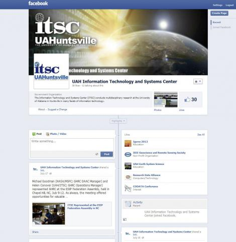 ITSC Facebook page
