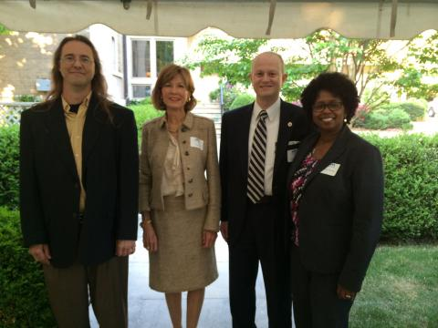 Evans Criswell, Dr. Graves, Lamar Hawkins and his wife, Andrea