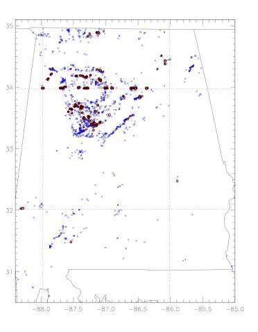 Example Landslide Model Warning Output