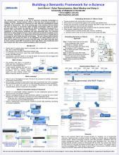 Semantic frameworks for e-Science poster