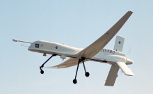 The Altus plane in flight