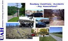 Exploration of associations between road conditions and traffic accidents
