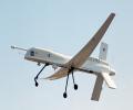 The Altus plane in flight